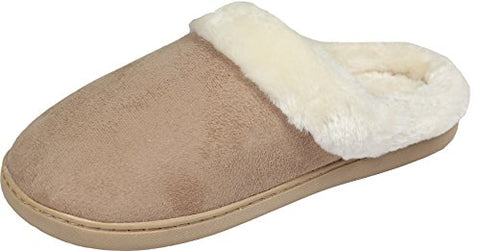 LUXEHOME Women's Cozy Fleece House Footwear/Slippers(1-08) (XL/8-9 US, Apricot)