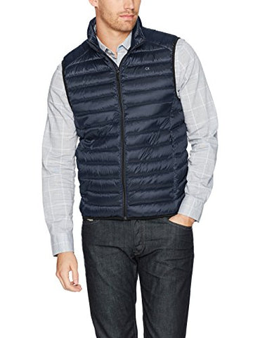 Calvin Klein Men's Packable Vest, Dark Blue, Large