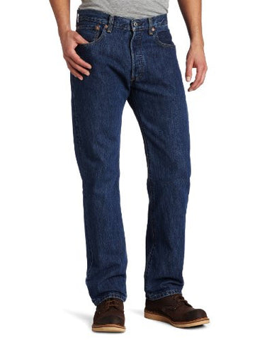 Levi's Men's 501 Original Fit Jean, Dark Stonewash, 36x32