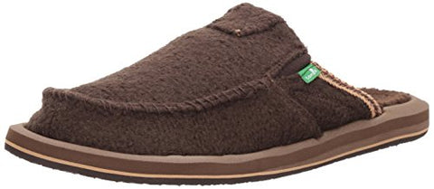 Sanuk Men's You Got My Back Chill Slip-On, Brown Wheat the Fuzz, 11 M US