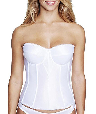 Dominique Juliette Strapless Longline Corset, 30C, White