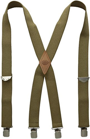 Dickies Men's 1-1/2 Solid Straight Clip Suspender,Beige,