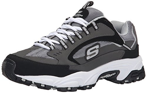 Skechers Sport Men's Stamina Cutback Oxford, Charcoal Cutback, 9.5 M US