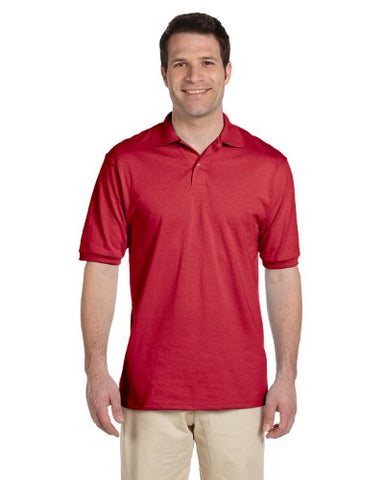 Jerzees Mens 50/50 Jersey Polo with SpotShield (437) -TRUE RED -XL