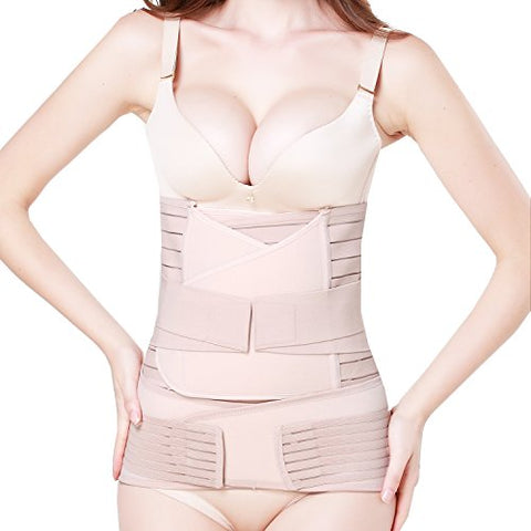 3 in 1 Postpartum Support - Recovery Belly/waist/pelvis Belt Shapewear (Nude)