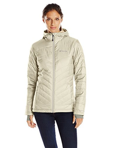 Columbia Women's Mighty Lite Hooded Plush Jacket, Chalk, X-Large