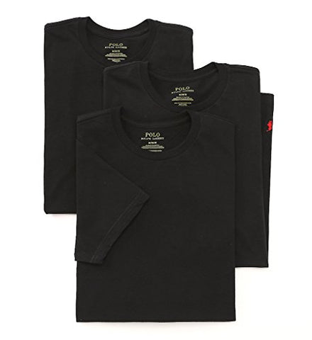 Polo Ralph Lauren 3 Crew Necks (RL65) L/Black