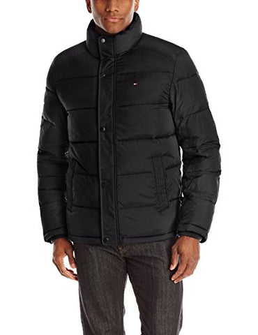 Tommy Hilfiger Men's Classic Puffer Jacket, Black, X-Large