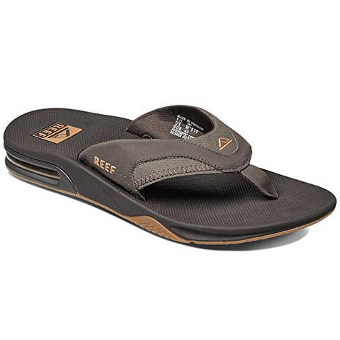 Reef Men's Fanning Sandal, Brown/Gum, 12 M US