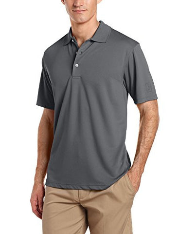 PGA TOUR Mens Airflux Solid Polo Shirt Large Asphalt grey