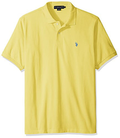 U.S. Polo Assn. mens Classic Polo Shirt (Color Group 1 of 2), Lemon Frost, X-Large