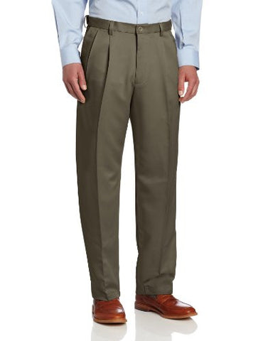 Haggar Men's Cool 18 Heather Solid Pant - Regular - 31W x 30L - Taupe