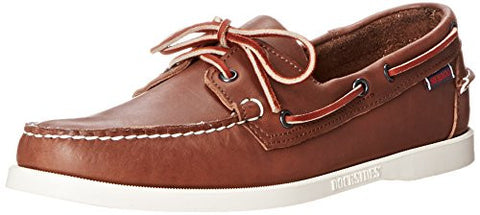 Sebago Men's Docksides Oxford, Brown Leather, 11 M US