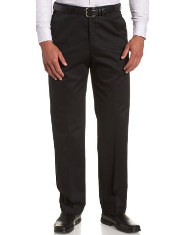 Haggar Men's Work To Weekend Hidden Expandable Waist No Iron Plain Front Pant,Black,44x30