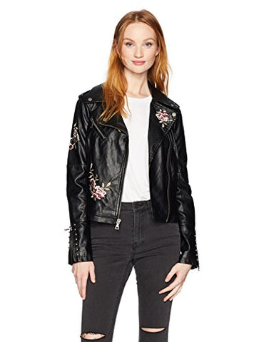 Guess Women's Harper Jacket, Jet Black/Multi, Medium