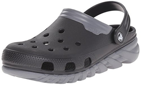 crocs Unisex Duet Max Clog, Black/Charcoal, 10 M US Men / 12 M US Women