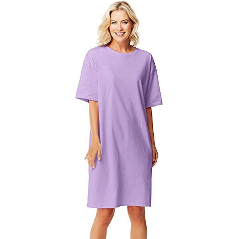 Hanes Women's Wear Around Nightshirt, Lavender, One Size