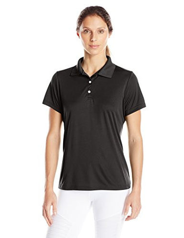 Hanes Sport Women's Cool DRI Performance Polo,Black,X-Large