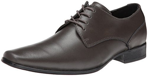 Calvin Klein Men's Brodie Leather Oxford, Pewter, 10 M US