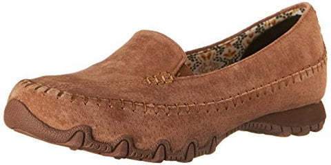Skechers Women's Bikers-Pedestrian Memory Foam Moccasin,Brown Suede,7.5 M US