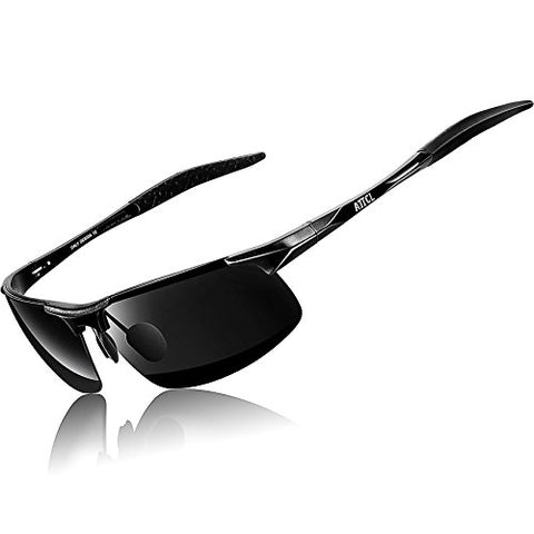 ATTCL New Fashion Driving Polarized Sunglasses for Men Unbreakable-metal Frame 18177black