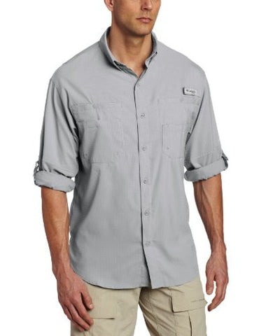 Columbia Men's Plus Tamiami II Long Sleeve Shirt, Cool Grey - X-Small