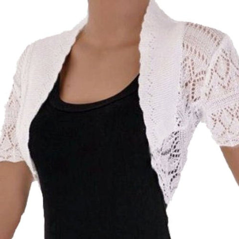 White Bolero In US Size 16/18