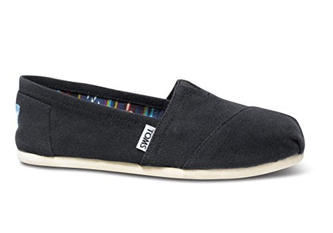 TOMS Women's Canvas Slip-On,Black,9 M