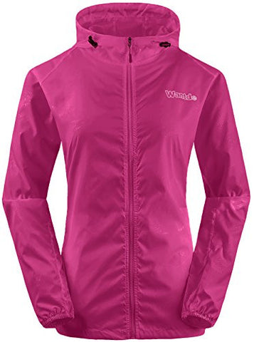 Wantdo Women's Super Packable Jacket Skin Jacket Rose Red US XL