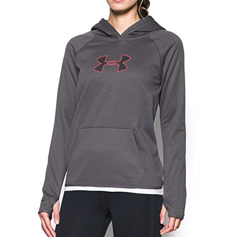 Under Armour UA Storm Armour Fleece Big Logo Hoodie, L, Carbon Heather