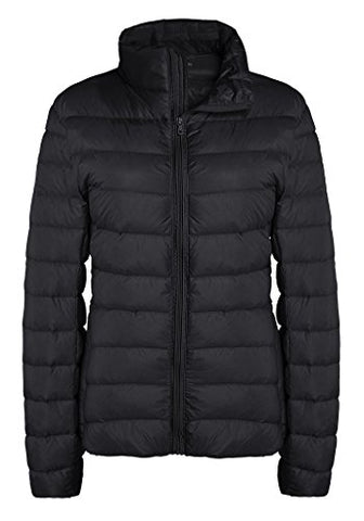 ZSHOW Women's Outwear Down Coat Lightweight Packable Powder Pillow Short Down Jacket, US Small, Black