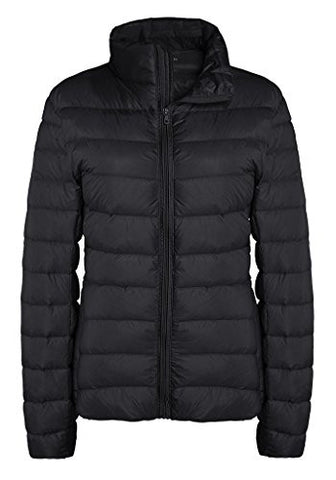 ZSHOW Women's Outwear Down Coat Lightweight Packable Powder Pillow Short Down Jacket, US Large, Black
