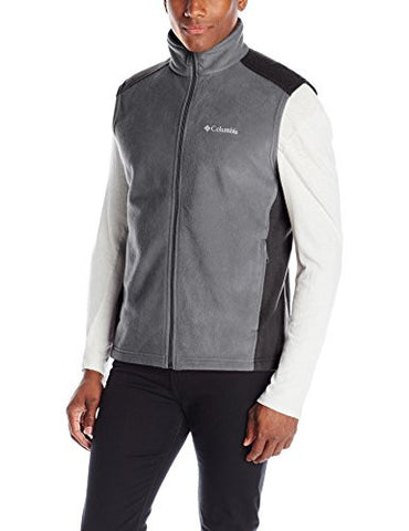 Columbia Men's Steens Mountain Vest, Grill/Black, Small