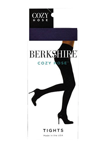 Berkshire Women's Cozy Hose Tights, Navy, 1X-2X