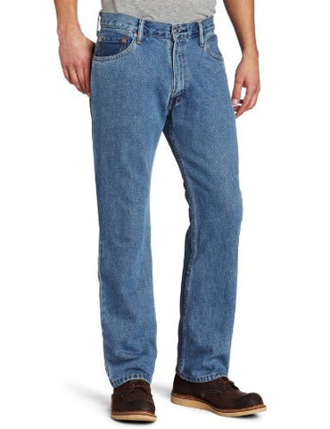 Levi's Men's 505 Regular Fit Jean, Medium Stonewash, 33x29