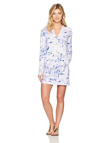 Lilly Pulitzer Women's Upf 50+ Rylie Cover-up Dress Rock the Dock, Lilac Verbena Rock the Dock, XS