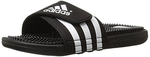adidas Originals Men's Adissage Slides,Black/Black/White,10 M US