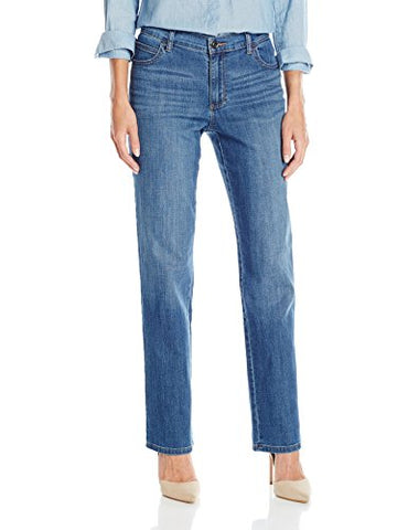 Lee Women's Relaxed Fit Straight Leg Jean, Meridian, 10 Short