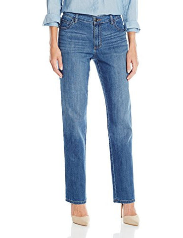 Lee Women's Relaxed Fit Straight Leg Jean, Meridian, 10
