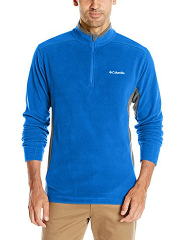 Columbia Men's Klamath Range II Half Zip, Super Blue/Graphite, X-Large