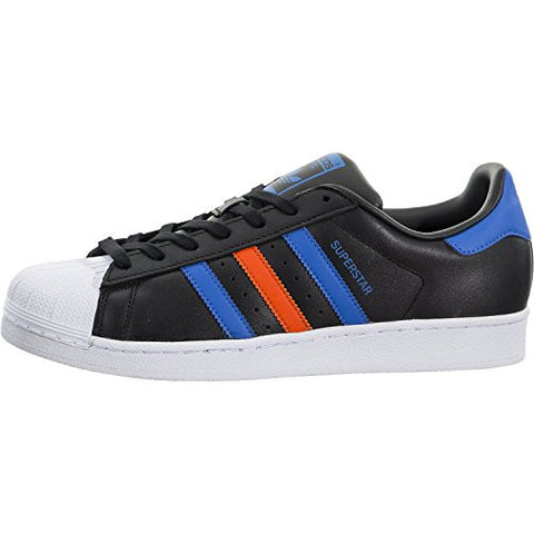 adidas Originals Men's Superstar, Cblack,Blue,Ftwwht, 7.5 Medium US