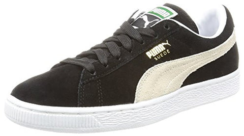 Puma Suede Classic+ Causal Basketball Shoes (US Men 8.5/ Eur 41/ 26.5 CM, Black- White)