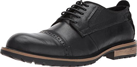 Steve Madden Men's Shandy Oxford, Black Leather, 10.5 US/US Size Conversion M US