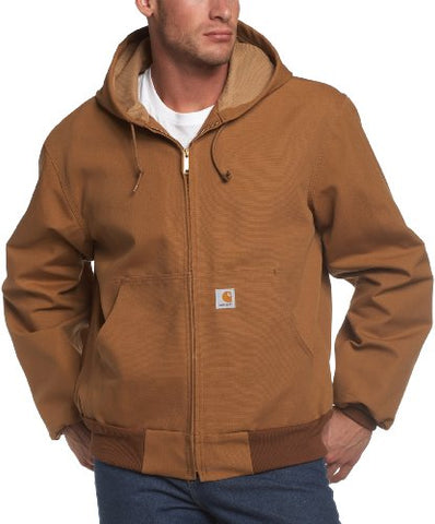Carhartt Men's Big & Tall Thermal Lined Duck Active Jacket J131,Brown,X-Large Tall