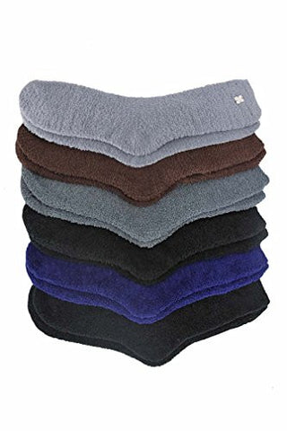 Dark Toasty Plush 6 Pack Fuzzy Socks