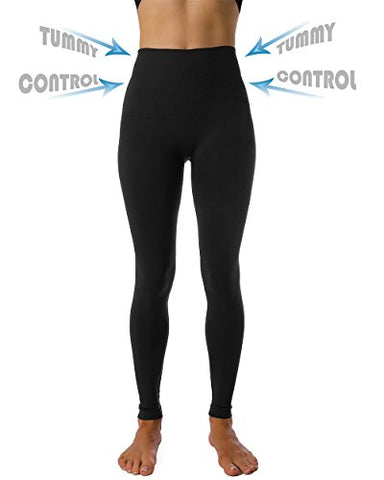 Homma High Waist Tummy Compression Control Slimming Leggings (large, black)