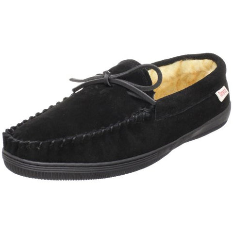 Tamarac by Slippers International 7161 Men's Camper Moccasin,Black,13 W US