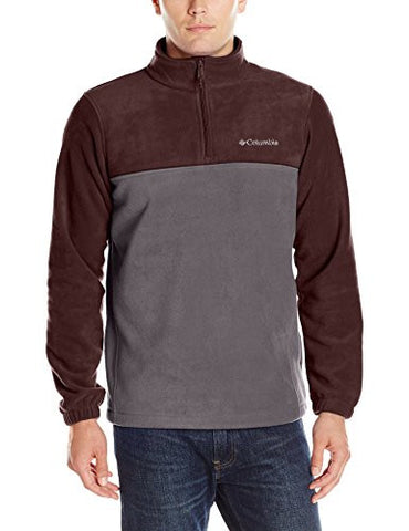 Columbia Men's Steens Mountain Half Zip, Shark/New Cinder, Small