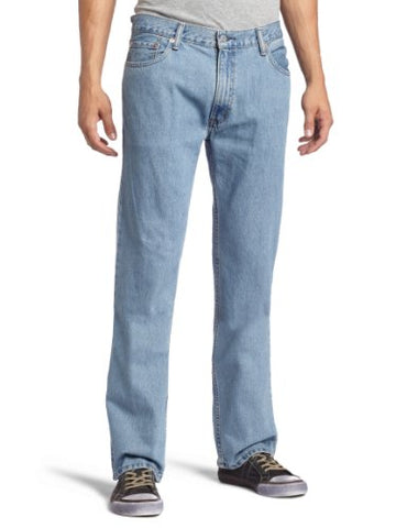 Levi's Men's 505 Regular Fit Jean, Light Stonewash, 42x29