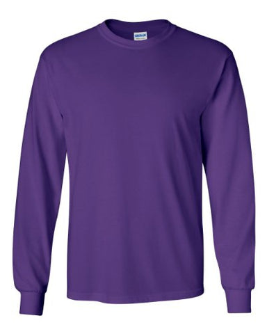 Gildan G240 Ultra Cotton® 6 oz. Long-Sleeve T-Shirt - PURPLE - M